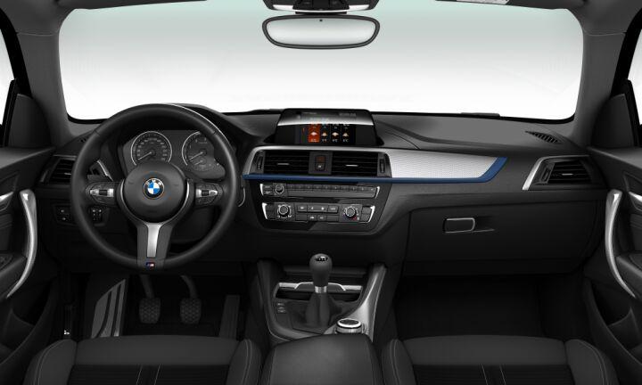 Vista Interior delantera del BMW Serie 1 118d 110 kW (150 CV)