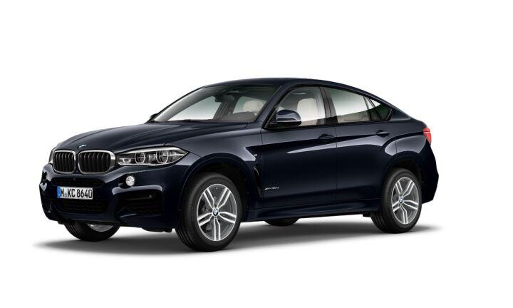 Vista Tres cuartos delantera izquierda del BMW X6 xDrive30d