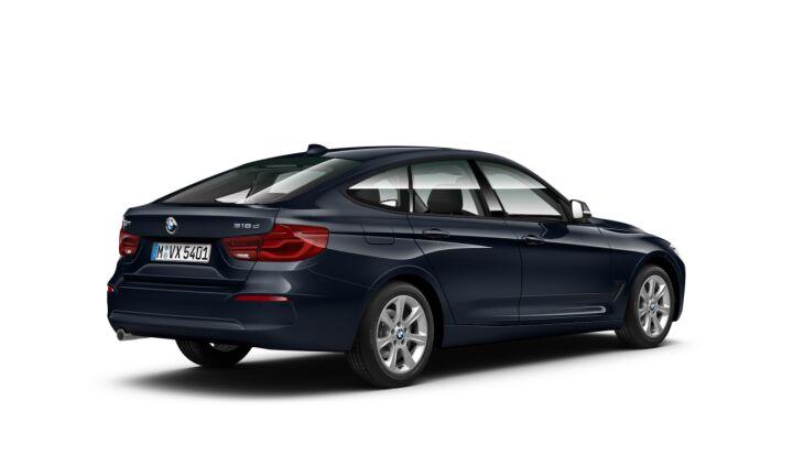 Vista Tres cuartos trasera izquierda del BMW Serie 3 318d Gran Turismo