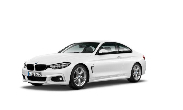 Vista Tres cuartos delantera izquierda del BMW Serie 4 420i Coupe