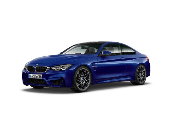Vista Tres cuartos delantera izquierda del BMW M M4 Coupe