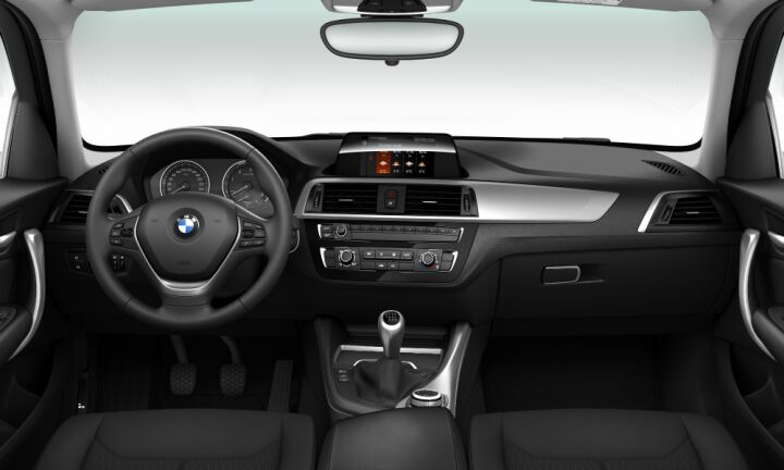 Vista Interior delantera del BMW Serie 1 118d xDrive 110 kW (150 CV)