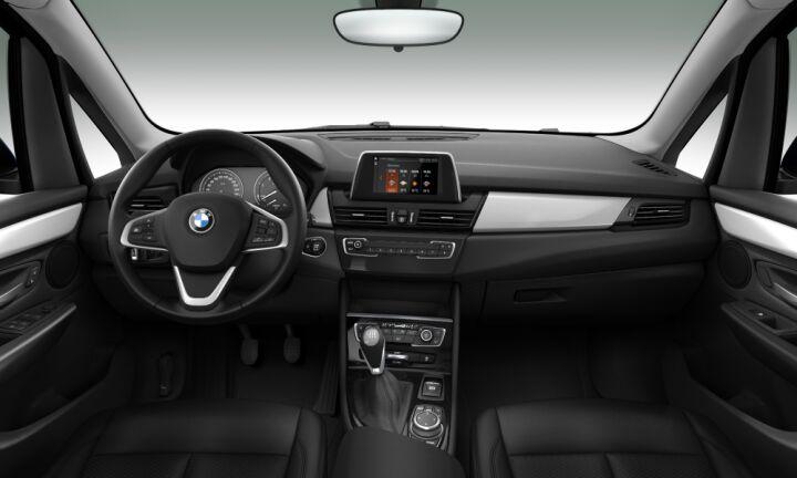 Vista Interior delantera del BMW Serie 2 218d Gran Tourer 110 kW (150 CV)