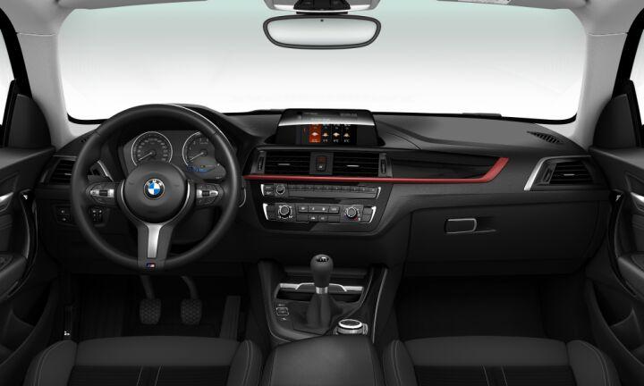 Vista Interior delantera del BMW Serie 1 118i 100kW (136CV)