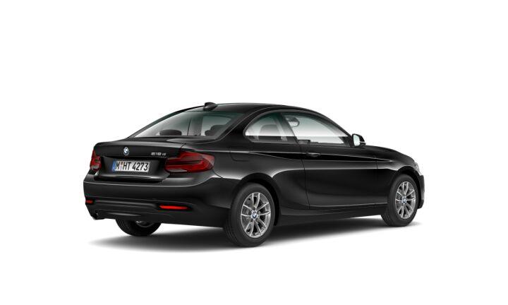 Vista Tres cuartos trasera izquierda del BMW Serie 2 218d Coupe