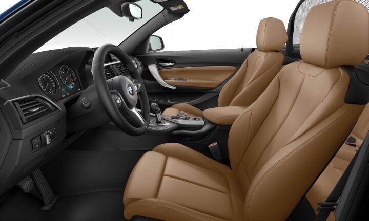 Vista Interior derecha del BMW Serie 2 218d Cabrio