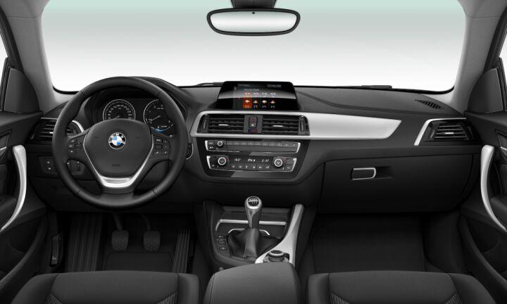 Vista Interior delantera del BMW Serie 2 218d Coupe 110 kW (150 CV)