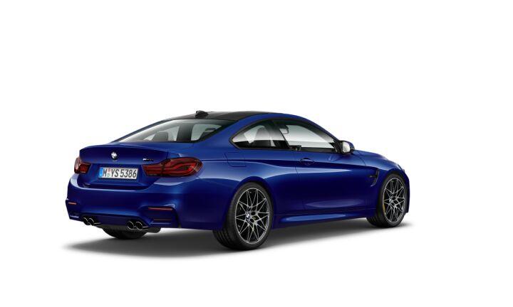 Vista Tres cuartos trasera izquierda del BMW M M4 Coupe