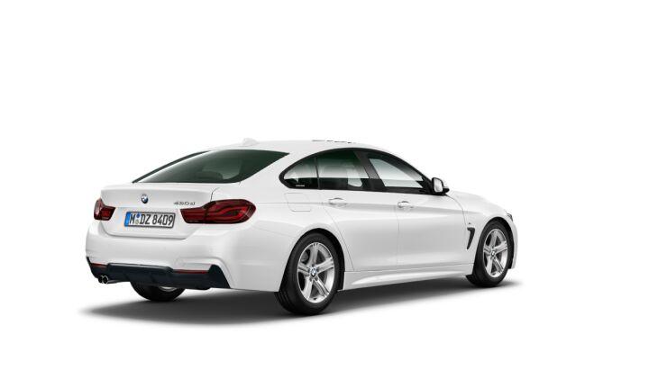 Vista Tres cuartos trasera izquierda del BMW Serie 4 430d Gran Coupe