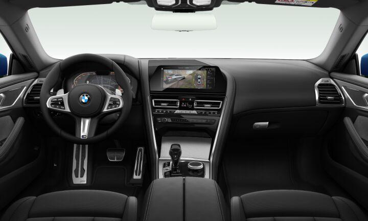 Vista Interior delantera del BMW Serie 8 840d Coupe