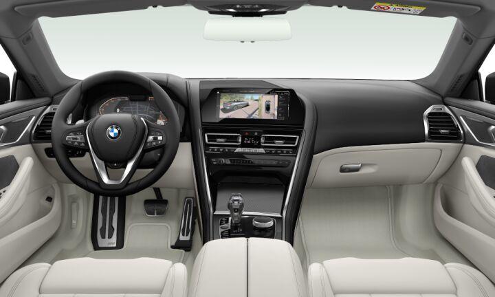 Vista Interior delantera del BMW Serie 8 840d Cabrio