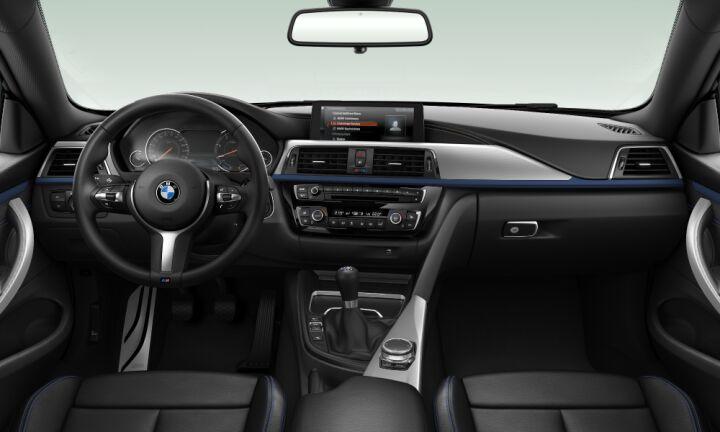 Vista Interior delantera del BMW Serie 4 420d Coupe