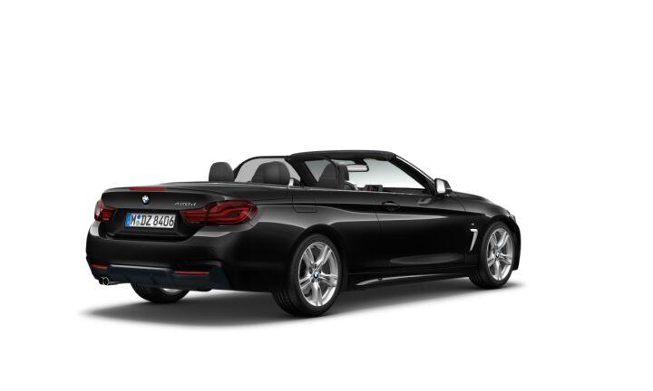 Vista Tres cuartos trasera izquierda del BMW Serie 4 420d Cabrio