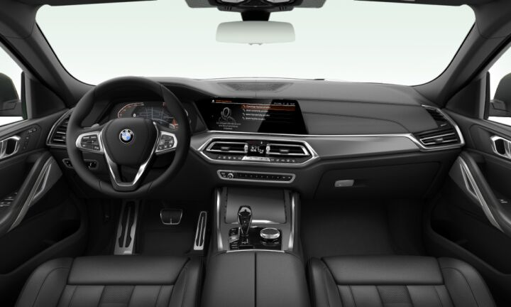 Vista Interior delantera del BMW X6 xDrive30d