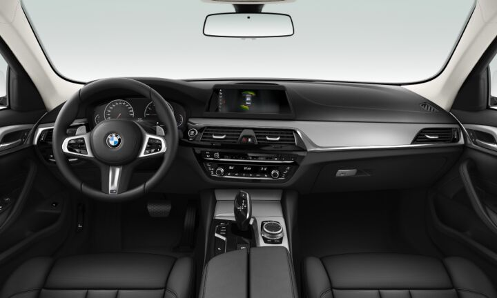 Vista Interior delantera del BMW Serie 5 520i 135 kW (184 CV)