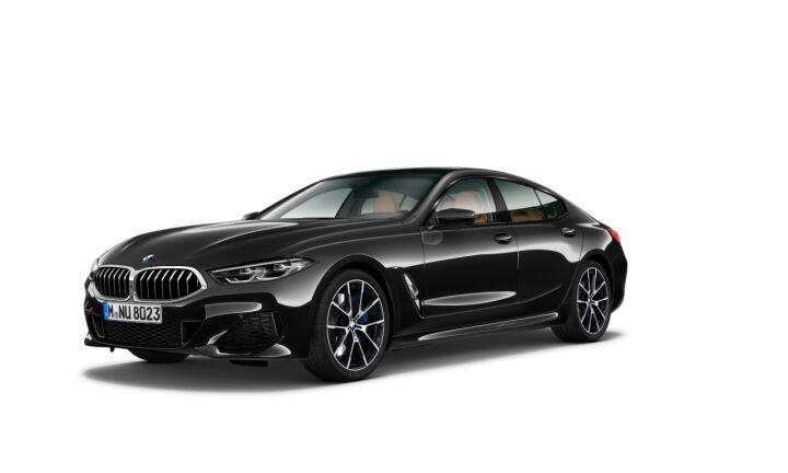 Vista Tres cuartos delantera izquierda del BMW Serie 8 840d Gran Coupe