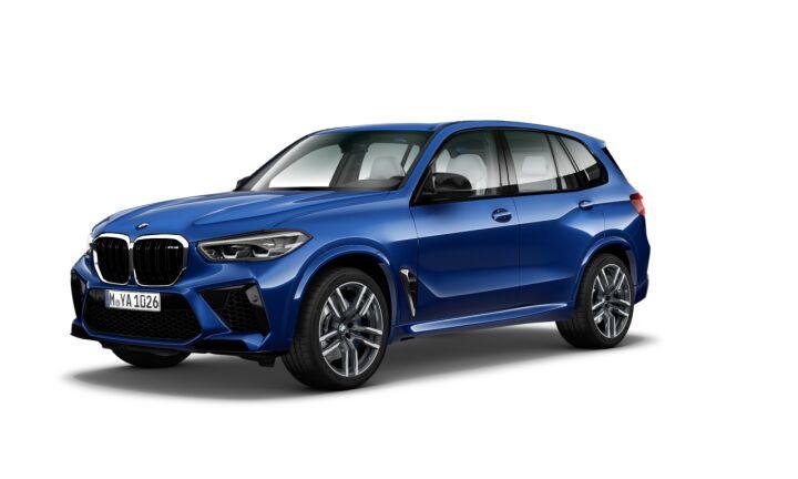 Vista Tres cuartos delantera izquierda del BMW M X5 M