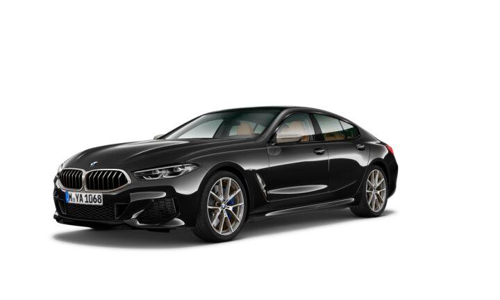 Vista Tres cuartos delantera izquierda del BMW Serie 8 M850i Gran Coupe
