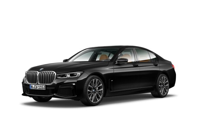 Vista Tres cuartos delantera izquierda del BMW Serie 7 740i