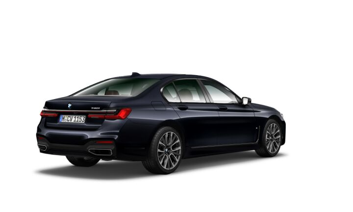 Vista Tres cuartos trasera izquierda del BMW Serie 7 740i 250 kW (340 CV)
