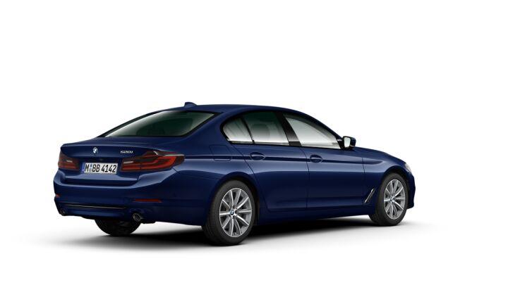 Vista Tres cuartos trasera izquierda del BMW Serie 5 520i 135 kW (184 CV)