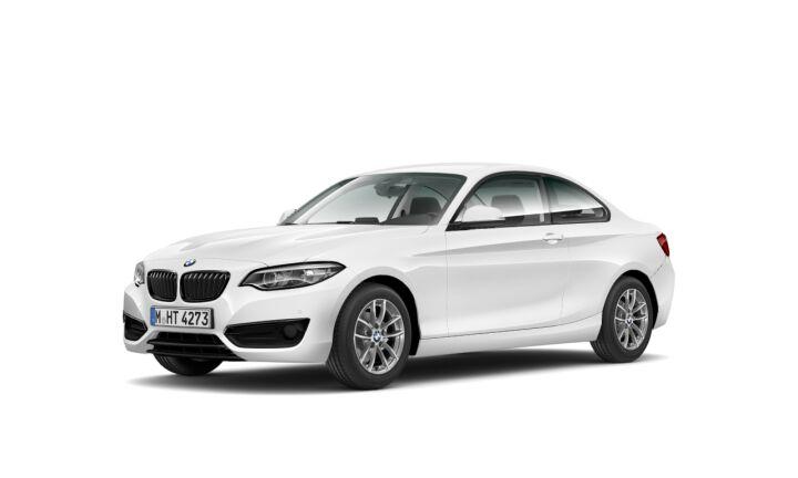 Vista Tres cuartos delantera izquierda del BMW Serie 2 218d Coupe