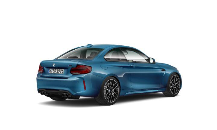 Vista Tres cuartos trasera izquierda del BMW Serie 2 M2 Competition