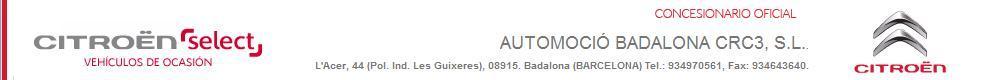 concesionario AUTOMOCIO BADALONA CRC3, S.L.